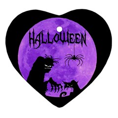 Halloween Heart Ornament (two Sides)