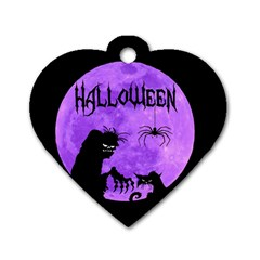 Halloween Dog Tag Heart (two Sides)