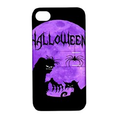 Halloween Apple Iphone 4/4s Hardshell Case With Stand