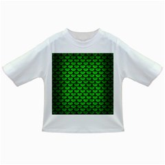 Scales3 Black Marble & Green Brushed Metal (r) Infant/toddler T Shirts