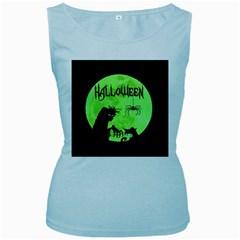Halloween Women s Baby Blue Tank Top