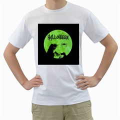 Halloween Men s T Shirt (white) (two Sided)
