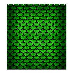 Scales3 Black Marble & Green Brushed Metal (r) Shower Curtain 66  X 72  (large)