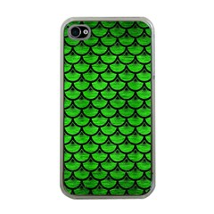 Scales3 Black Marble & Green Brushed Metal (r) Apple Iphone 4 Case (clear)