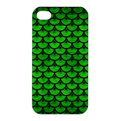 Scales3 Black Marble & Green Brushed Metal (r) Apple Iphone 4/4s Premium Hardshell Case