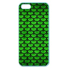 Scales3 Black Marble & Green Brushed Metal (r) Apple Seamless Iphone 5 Case (color)