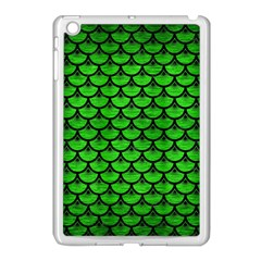 Scales3 Black Marble & Green Brushed Metal (r) Apple Ipad Mini Case (white)
