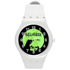 Halloween Round Plastic Sport Watch (m)
