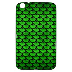 Scales3 Black Marble & Green Brushed Metal (r) Samsung Galaxy Tab 3 (8 ) T3100 Hardshell Case