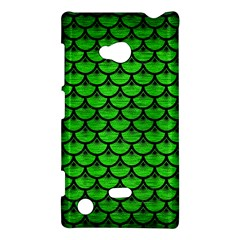 Scales3 Black Marble & Green Brushed Metal (r) Nokia Lumia 720