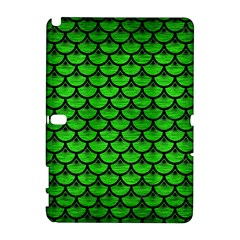 Scales3 Black Marble & Green Brushed Metal (r) Galaxy Note 1