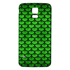 Scales3 Black Marble & Green Brushed Metal (r) Samsung Galaxy S5 Back Case (white)