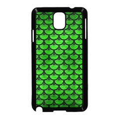 Scales3 Black Marble & Green Brushed Metal (r) Samsung Galaxy Note 3 Neo Hardshell Case (black)