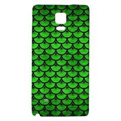 Scales3 Black Marble & Green Brushed Metal (r) Galaxy Note 4 Back Case
