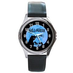 Halloween Round Metal Watch