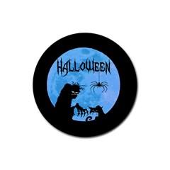 Halloween Rubber Coaster (round)