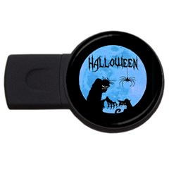 Halloween Usb Flash Drive Round (4 Gb)