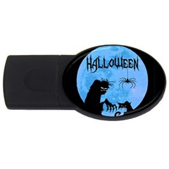 Halloween Usb Flash Drive Oval (4 Gb)