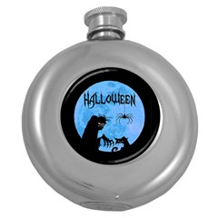 Halloween Round Hip Flask (5 Oz)