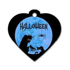 Halloween Dog Tag Heart (one Side)