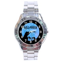 Halloween Stainless Steel Analogue Watch