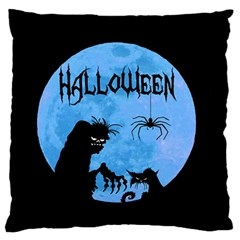 Halloween Large Flano Cushion Case (two Sides)