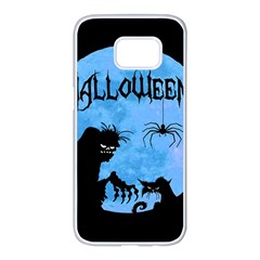 Halloween Samsung Galaxy S7 Edge White Seamless Case