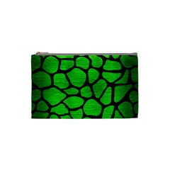 Skin1 Black Marble & Green Brushed Metal Cosmetic Bag (small)