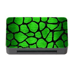 Skin1 Black Marble & Green Brushed Metal Memory Card Reader With Cf