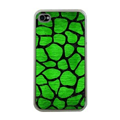 Skin1 Black Marble & Green Brushed Metal Apple Iphone 4 Case (clear)