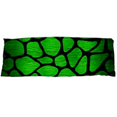 Skin1 Black Marble & Green Brushed Metal Body Pillow Case (dakimakura)