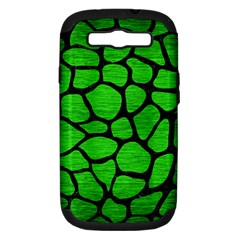 Skin1 Black Marble & Green Brushed Metal Samsung Galaxy S Iii Hardshell Case (pc+silicone)