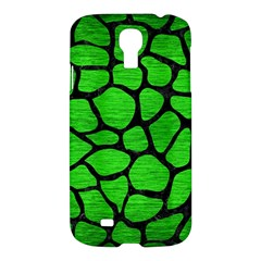 Skin1 Black Marble & Green Brushed Metal Samsung Galaxy S4 I9500/i9505 Hardshell Case