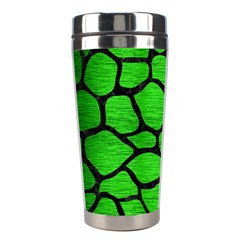 Skin1 Black Marble & Green Brushed Metal Stainless Steel Travel Tumblers