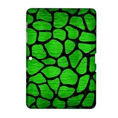 Skin1 Black Marble & Green Brushed Metal Samsung Galaxy Tab 2 (10 1 ) P5100 Hardshell Case