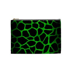 Skin1 Black Marble & Green Brushed Metal (r) Cosmetic Bag (medium)