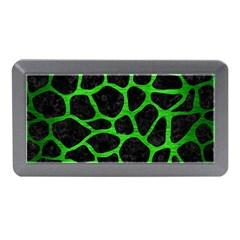Skin1 Black Marble & Green Brushed Metal (r) Memory Card Reader (mini)