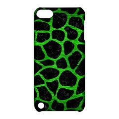 Skin1 Black Marble & Green Brushed Metal (r) Apple Ipod Touch 5 Hardshell Case With Stand