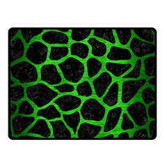 Skin1 Black Marble & Green Brushed Metal (r) Double Sided Fleece Blanket (small)