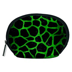 Skin1 Black Marble & Green Brushed Metal (r) Accessory Pouches (medium)
