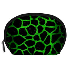 Skin1 Black Marble & Green Brushed Metal (r) Accessory Pouches (large)