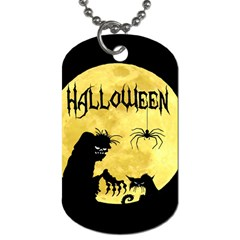 Halloween Dog Tag (two Sides)