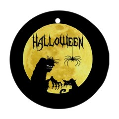 Halloween Round Ornament (two Sides)