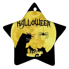 Halloween Star Ornament (two Sides)