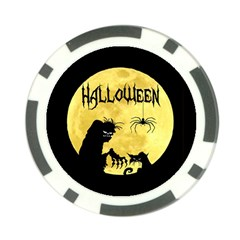 Halloween Poker Chip Card Guard