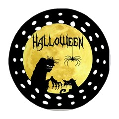 Halloween Round Filigree Ornament (two Sides)