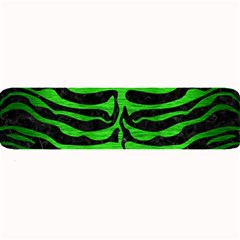 Skin2 Black Marble & Green Brushed Metal Large Bar Mats