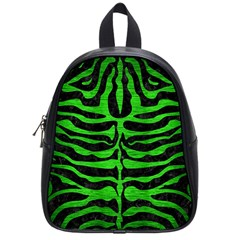 Skin2 Black Marble & Green Brushed Metal School Bag (small)