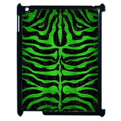 Skin2 Black Marble & Green Brushed Metal Apple Ipad 2 Case (black)