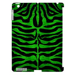 Skin2 Black Marble & Green Brushed Metal Apple Ipad 3/4 Hardshell Case (compatible With Smart Cover)